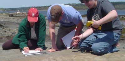 Tora & GPS students map Passamaquoddy petroglyphs